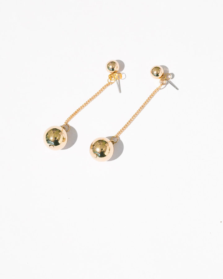 GOLD NELLE BALL EARRINGS
