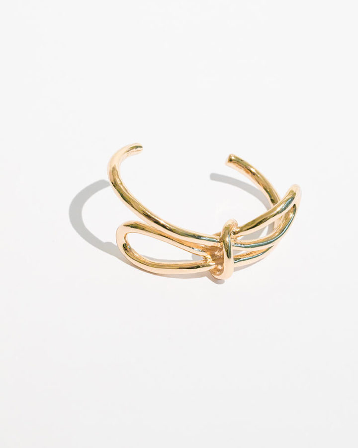 GOLD ESBER BOW BANGLE