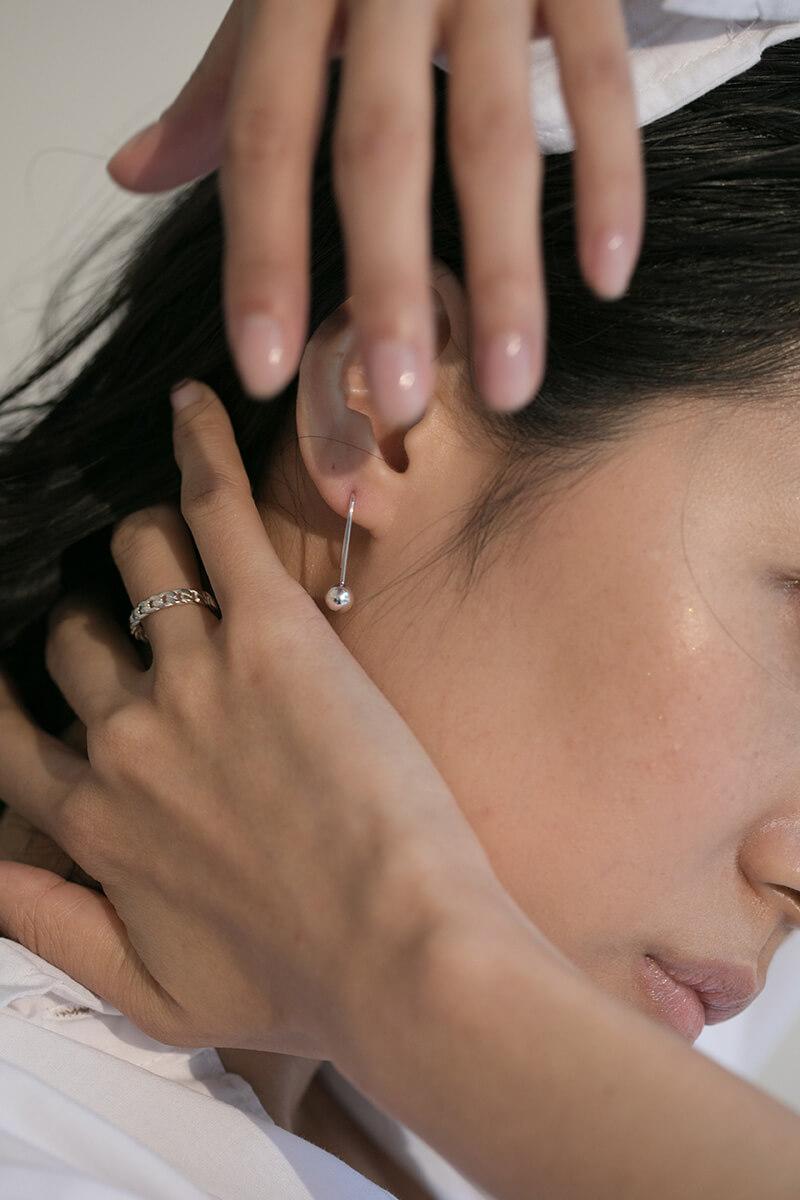 SILVER PIN EARRINGS