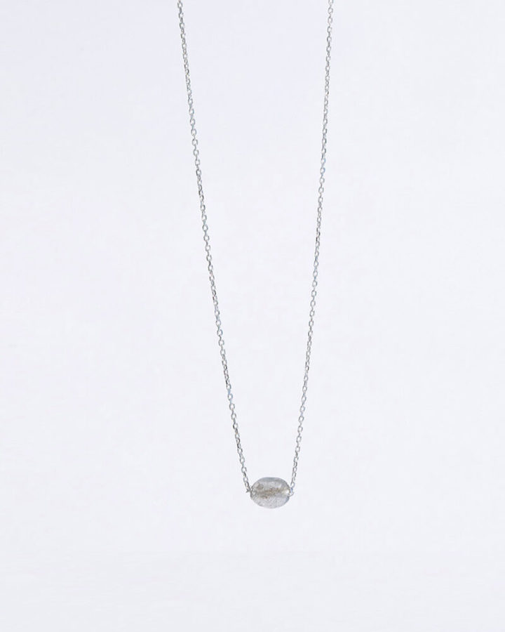 SILVER MONO COLDMETE NECKLACE