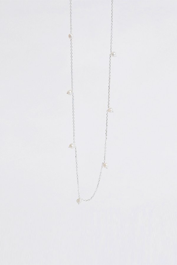 SILVER MULTI PEARL NECKLACE