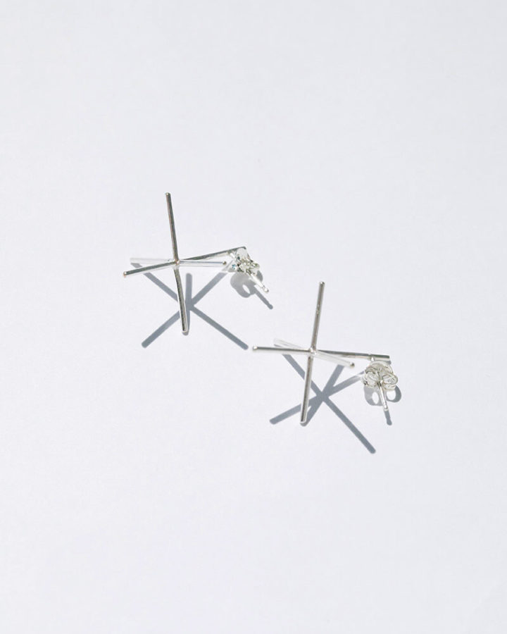 SILVER CARTESIAN EARRINGS